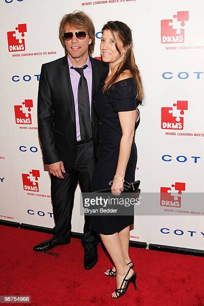Musician Jon Bon Jovi and Dorothea Bon Jovi attends DKMS' 4th Annual Gala Linked Against Leukemia at Cipriani 42nd Street on April 29 2010 in New...