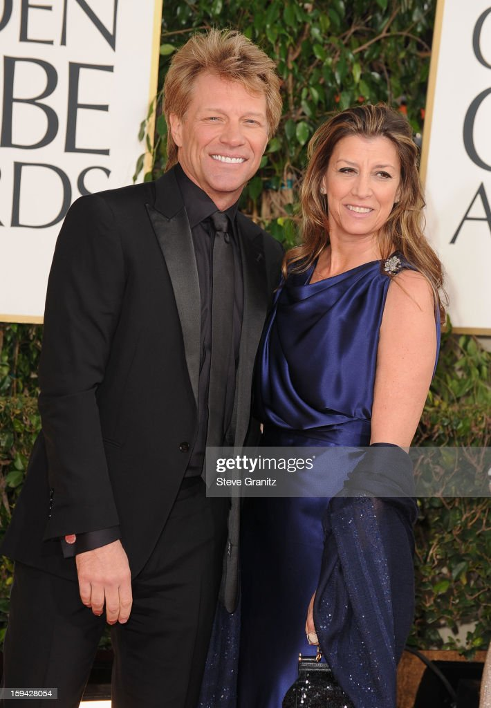 Musician Jon Bon Jovi and Dorothea Hurley arrive at the 70th Annual Golden Globe Awards held at The Beverly Hilton Hotel on January 13, 2013 in Beverly Hills, California.