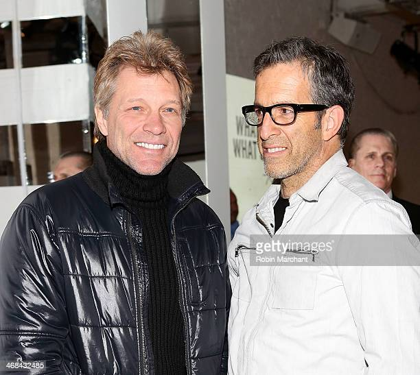 Musician Jon Bon Jovi and Fashion designer Kenneth Cole attend the Kenneth Cole Collection presentation during MercedesBenz Fashion Week Fall 2014 at...