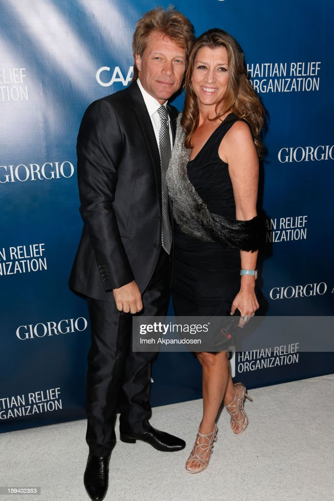 Musician Jon Bon Jovi (L) and his wife Dorothea Hurley attend the 2nd Annual Sean Penn and Friends Help Haiti Home Gala benefiting J/P HRO presented by Giorgio Armani at Montage Hotel on January 12, 2013 in Los Angeles, California.