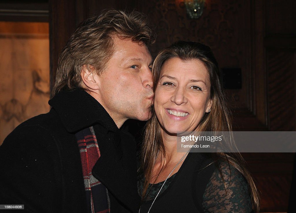 Musician <a gi-track='captionPersonalityLinkClicked' href=/galleries/search?phrase=Jon+Bon+Jovi&family=editorial&specificpeople=201527 ng-click='$event.stopPropagation()'>Jon Bon Jovi</a> and his wife Dorothea Hurley (R) attend The Cinema Society With Chrysler & Bally Host The Premiere Of 'Stand Up Guys' After Party at The Plaza Hotel on December 9, 2012 in New York City.