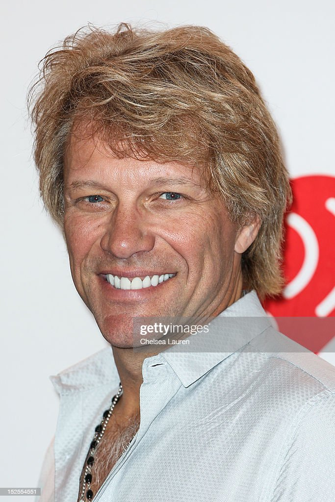 Musician <a gi-track='captionPersonalityLinkClicked' href=/galleries/search?phrase=Jon+Bon+Jovi&family=editorial&specificpeople=201527 ng-click='$event.stopPropagation()'>Jon Bon Jovi</a> arrives at iHeartRadio Music Festival press room at MGM Grand Garden Arena on September 21, 2012 in Las Vegas, Nevada.