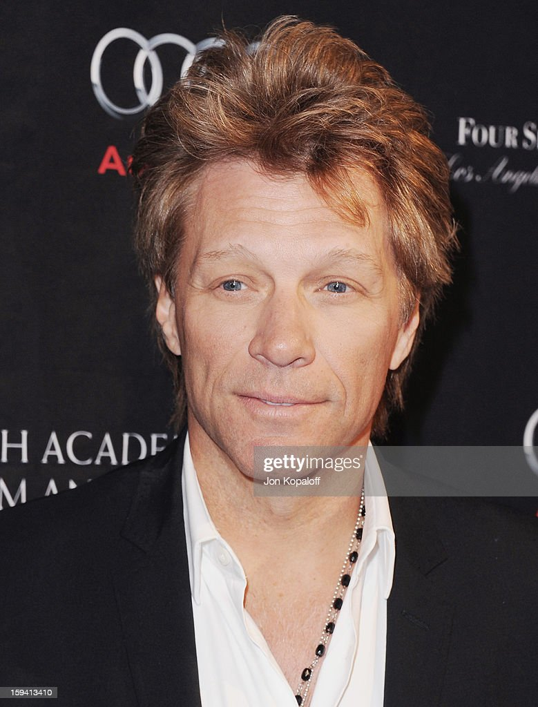 Musician Jon Bon Jovi arrives at the BAFTA Los Angeles Awards Season Tea Party at Four Seasons Hotel Los Angeles at Beverly Hills on January 12, 2013 in Beverly Hills, California.