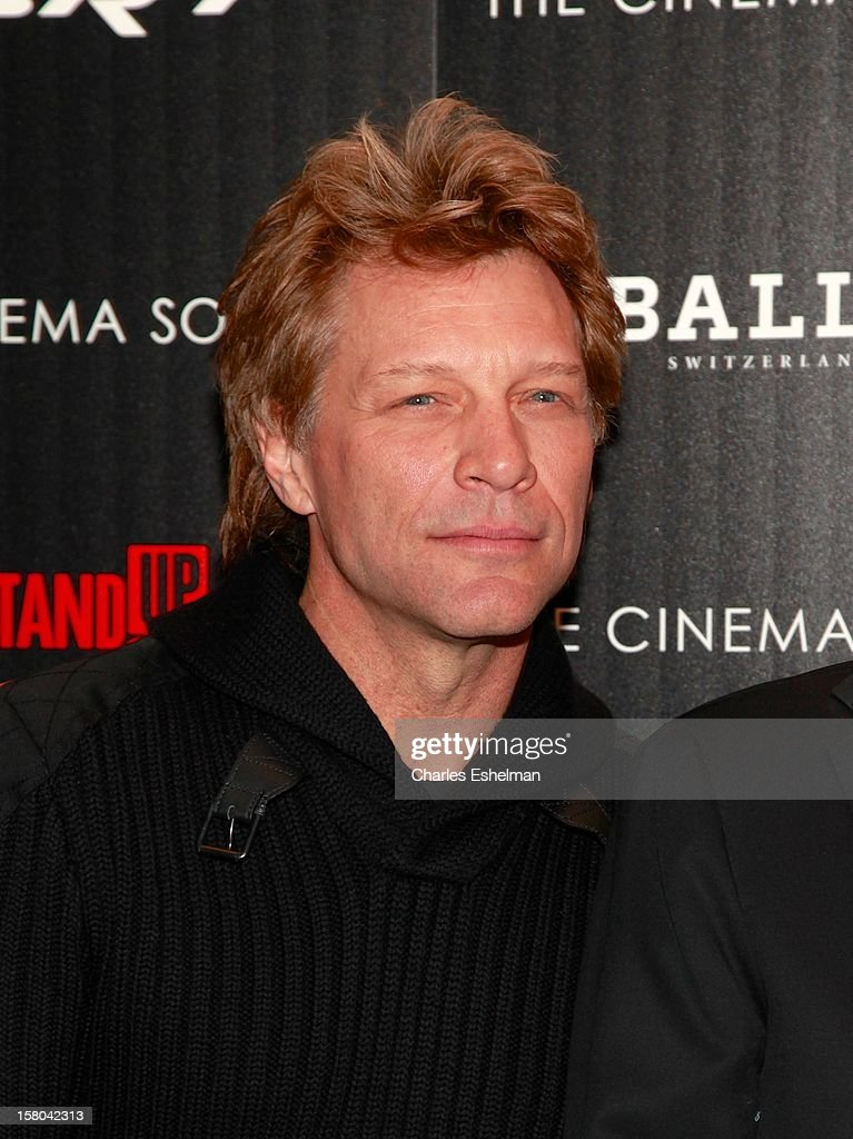 Musician Jon Bon Jovi attends The Cinema Society With Chrysler & Bally Host The Premiere Of 'Stand Up Guys' at The Museum of Modern Art on December 9, 2012 in New York City.