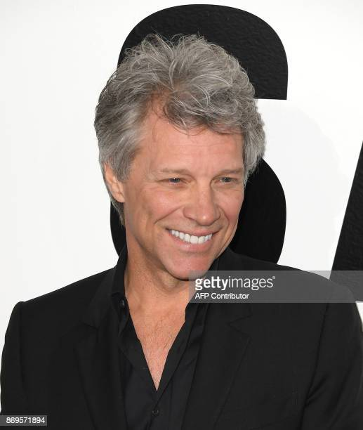 Musician Jon Bon Jovi attends the Samsung Charity Gala 2017 at Skylight Clarkson Square on November 2 2017 in New York / AFP PHOTO / ANGELA WEISS
