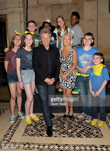 Musician Jon Bon Jovi Director of Special Initiatives at SeriousFun Children's Network Clea Newman Soderlund and Guests attend SeriousFun Children's...