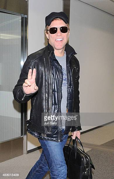 Musician Jon Bon Jovi is seen upon arrival at Narita International Airport on December 2 2013 in Narita Japan