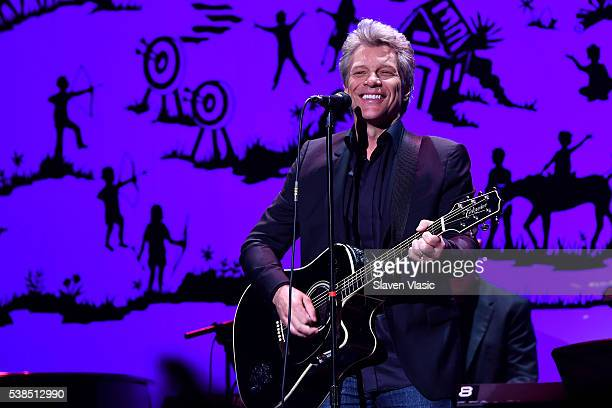 Musician Jon Bon Jovi performs onstage during SeriousFun Children's Network 2016 NYC Gala Show on June 6 2016 in New York City