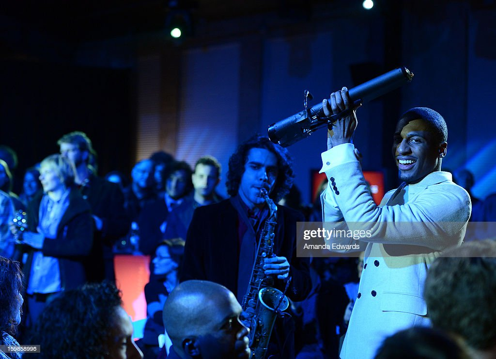 Musician Jonathan Batiste performs onstage during the Intel Event at The Shop during the 2013 Sundance Film Festival on January 21, 2013 in Park City, Utah.