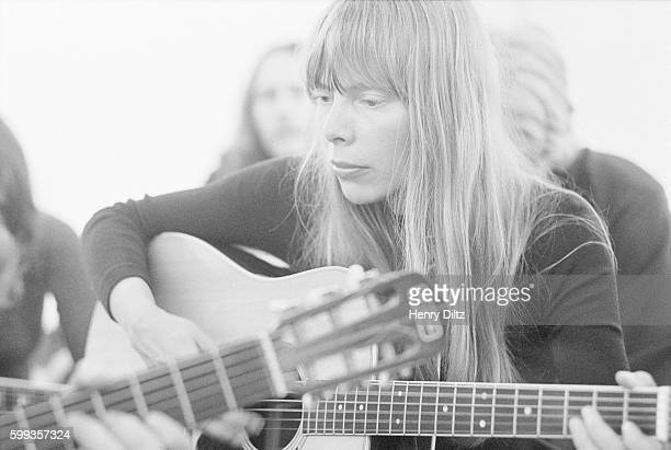 Musician Joni Mitchell at Boyd's Gallery