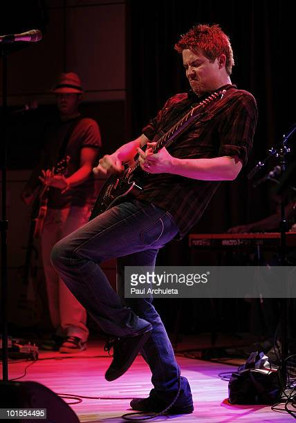 Musician Jonny Lang performs at the Grammy Museums presentation of Guitar Greats at The GRAMMY Museum on June 1 2010 in Los Angeles California