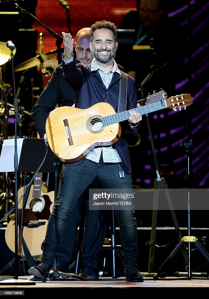 Musician Jorge Drexler performs onstage during the 2014 Person of the Year honoring Joan Manuel Serrat at the Mandalay Bay Events Center on November 19, 2014 in Las Vegas, Nevada.