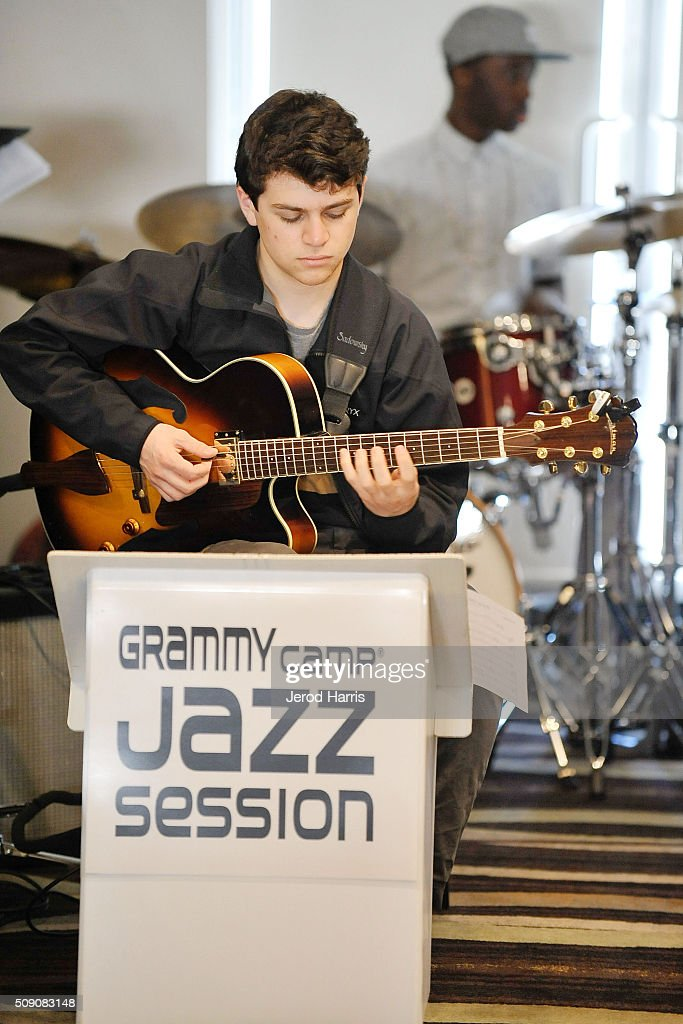 Musician Joseph Bell performs at the 58th GRAMMY Awards - GRAMMY Camp - Jazz Session Rehearsals on February 8, 2016 in Marina del Rey, California.