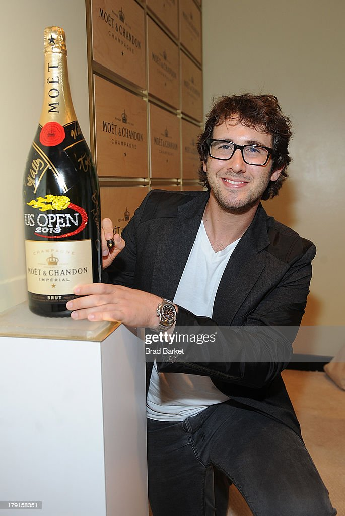 Musician <a gi-track='captionPersonalityLinkClicked' href=/galleries/search?phrase=Josh+Groban&family=editorial&specificpeople=202917 ng-click='$event.stopPropagation()'>Josh Groban</a> attends the Moet & Chandon Suite at USTA Billie Jean King National Tennis Center on August 31, 2013 in New York City.