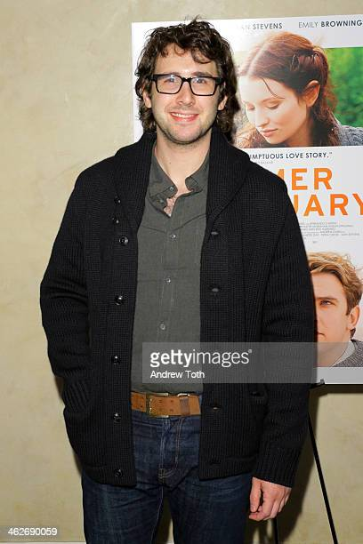 Musician Josh Groban attends the 'Summer In February' premiere at Sotheby's on January 14 2014 in New York City