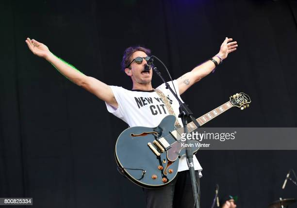 Musician Josh Hogan of musical group The Mowgli's performs on The Oak stage during Arroyo Seco Weekend at the Brookside Golf Course at on June 25...