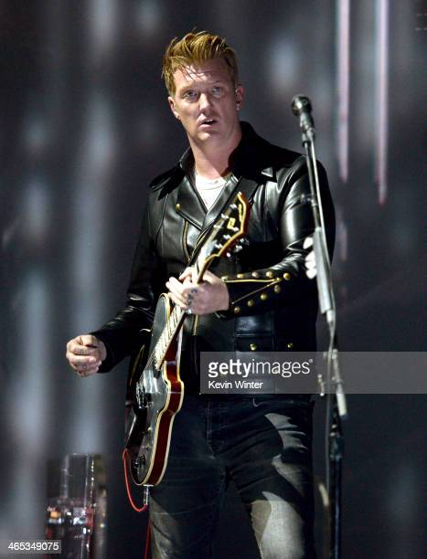 Musician Josh Homme of Queens of the Stone Age performs onstage during the 56th GRAMMY Awards at Staples Center on January 26 2014 in Los Angeles...