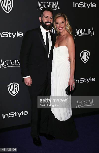 Musician Josh Kelley and actress Katherine Heigl attend the 2015 InStyle and Warner Bros 72nd Annual Golden Globe Awards PostParty at The Beverly...