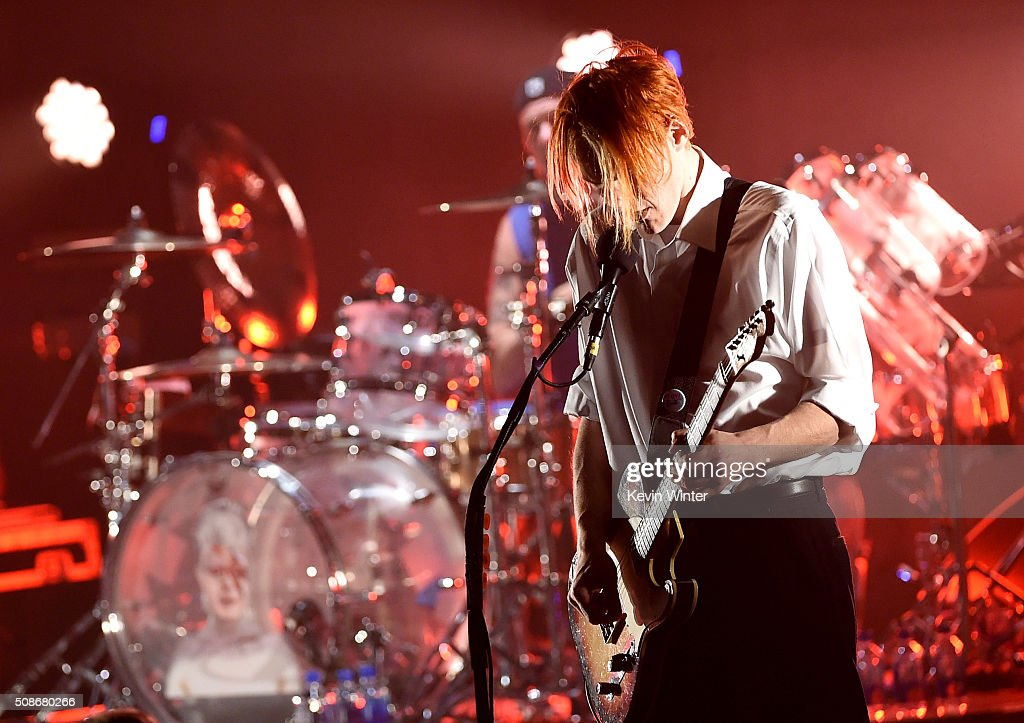 Musician Josh Klinghoffer of the Red Hot Chili Peppers performs onstage during the 'Feel The Bern' fundraiser concert to benefit presidential candidate Bernie Sanders at the Ace Theater Downtown LA on February 5, 2016 in Los Angeles, California.