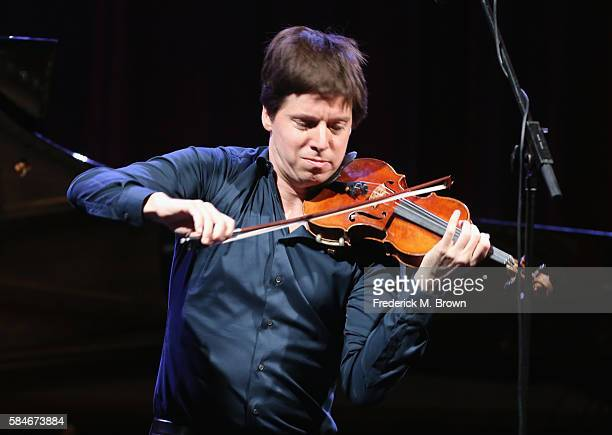 Musician Joshua Bell performs onstage during the 'PBS Arts Fall Festival/Live from Lincoln Center presents Joshua Bell' performance at the PBS...