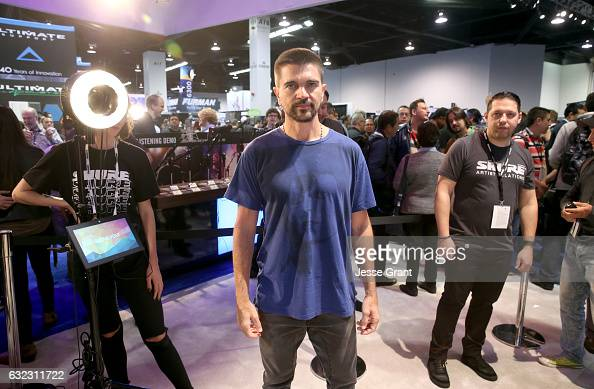 Musician Juanes attends the 2017 NAMM Show at the Anaheim Convention Center on January 21 2017 in Anaheim California