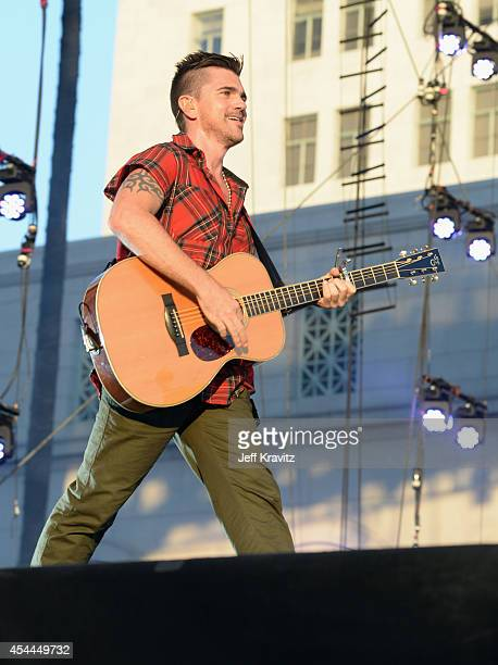 Musician Juanes performs on the Marilyn Stage during day 2 of the 2014 Budweiser Made in America Festival at Los Angeles Grand Park on August 31 2014...