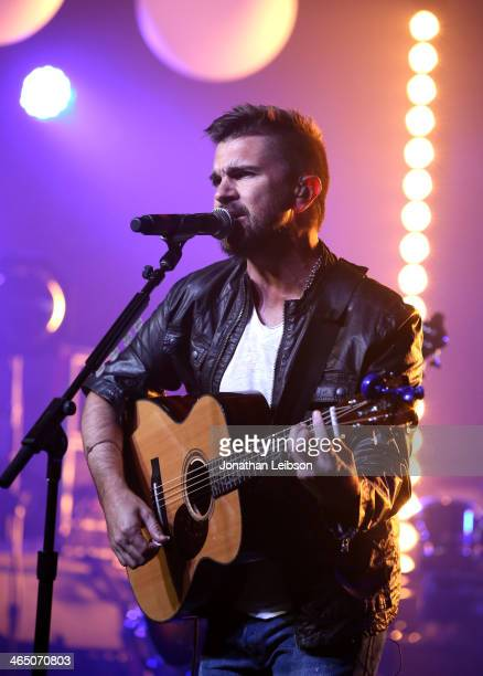 Musician Juanes performs onstage during Universal Music Group Showcase '14 on January 25 2014 in Los Angeles California