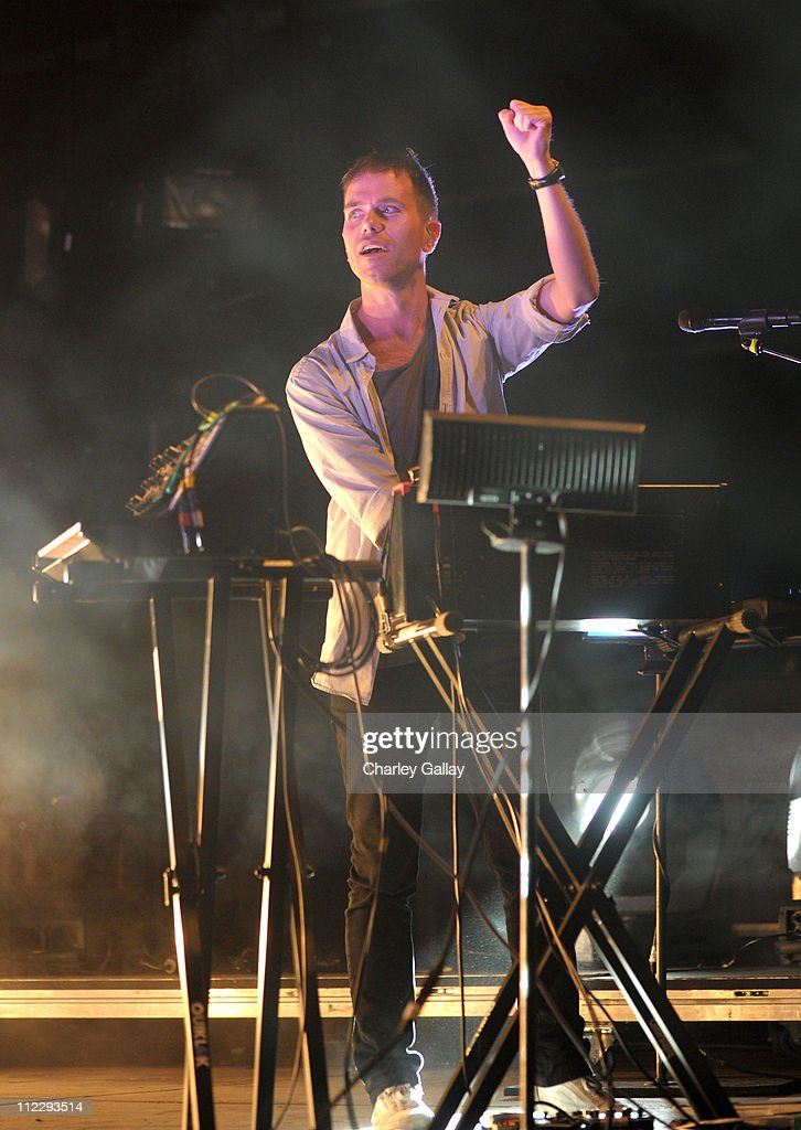 Musician Julian Hamilton of The Presets performs during Day 3 of the Coachella Valley Music & Arts Festival 2011 held at the Empire Polo Club on April 17, 2011 in Indio, California.
