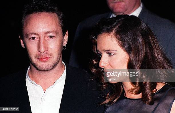 Musician Julian Lennon and actress Valeria Golino attend the 5th Annual Fire and Ice Ball at the 20th Century Fox Studios in Century City California...
