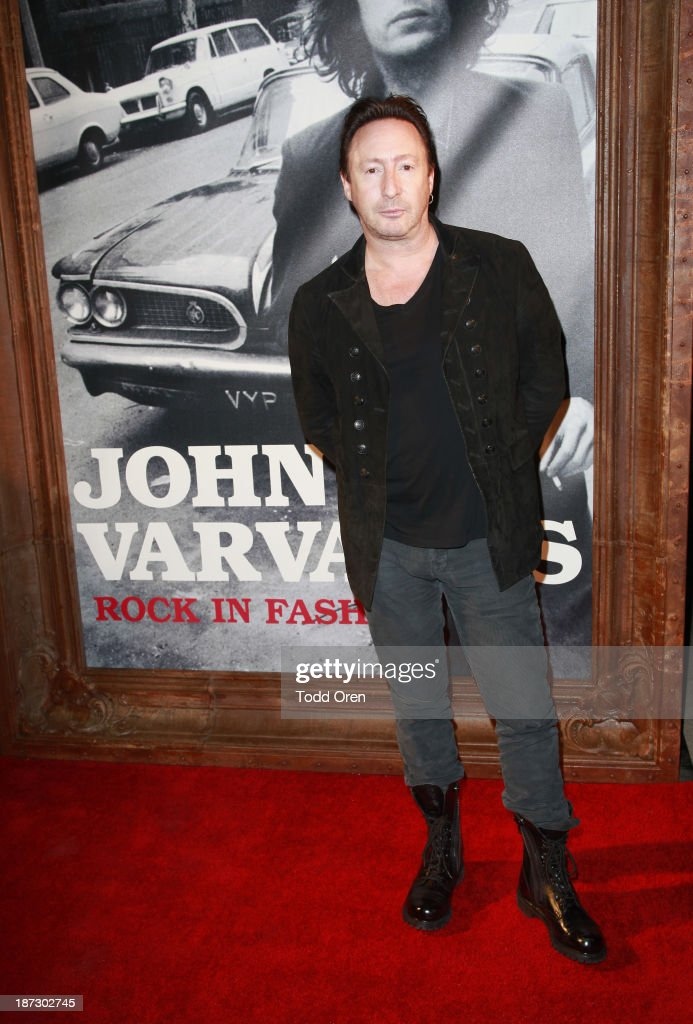 Musician <a gi-track='captionPersonalityLinkClicked' href=/galleries/search?phrase=Julian+Lennon&family=editorial&specificpeople=211480 ng-click='$event.stopPropagation()'>Julian Lennon</a> arrives to the 'John Varvatos: Rock In Fashion book launch celebration held at John Varvatos Los Angeles on November 7, 2013 in Los Angeles, California.