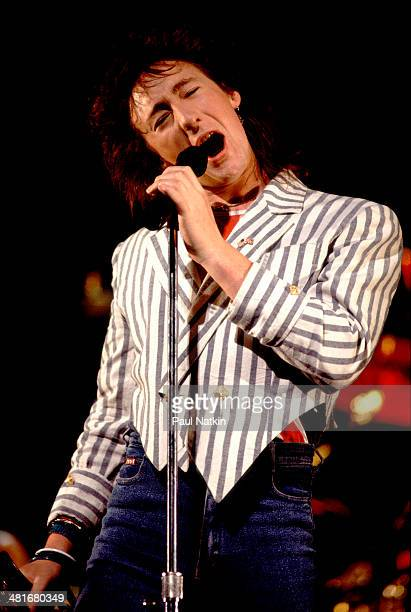 Musician Julian Lennon performs onstage Chicago Illinois April 24 1985