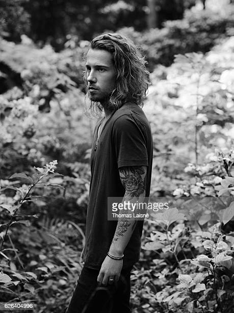 Musician Julien Doré is photographed for Self Assignment on September 8 2016 in Paris France