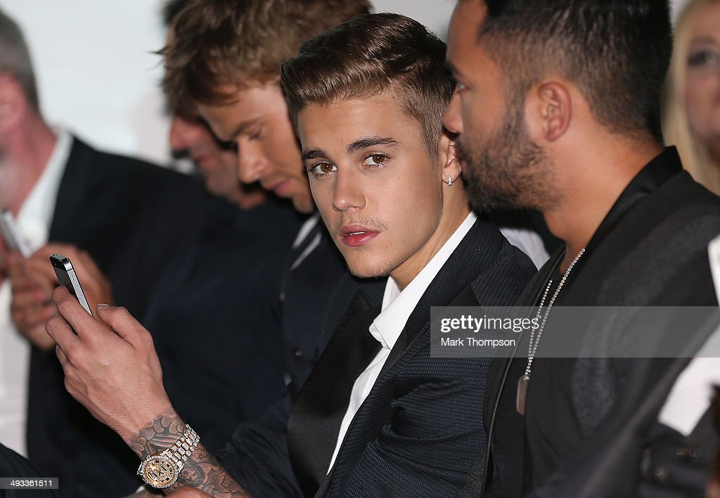 Musician Justin Bieber attends the Amber Lounge Fashion Show ahead of the Monaco Formula One Grand Prix at Circuit de Monaco on May 23, 2014 in Monte-Carlo, Monaco.