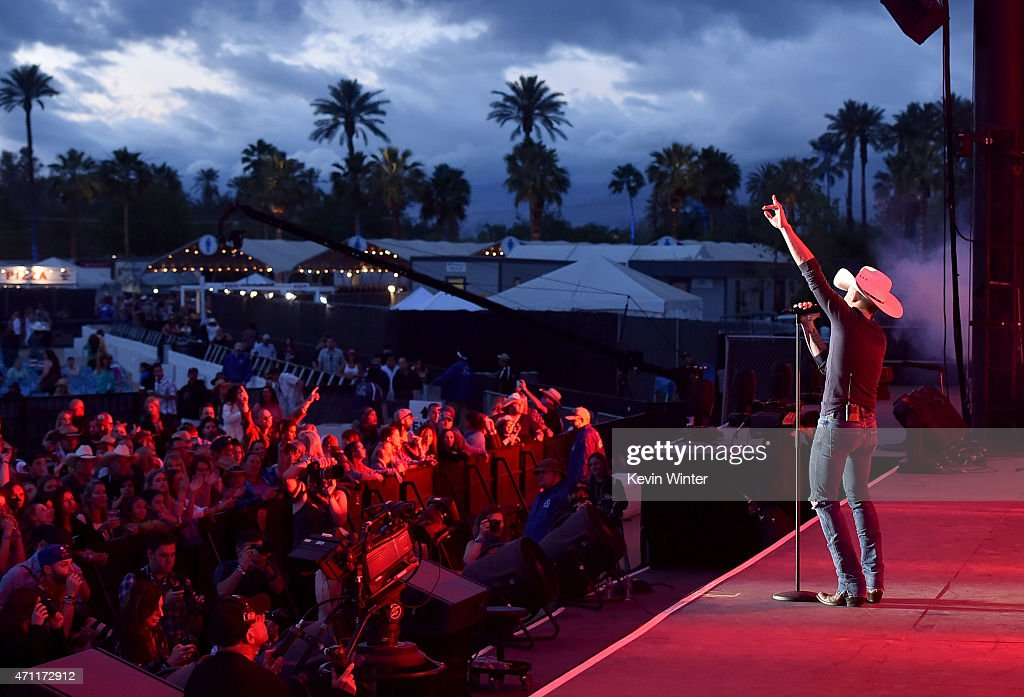 Musician Justin Moore performs onstage during day two of 2015 Stagecoach, California's Country Music Festival, at The Empire Polo Club on April 25, 2015 in Indio, California.