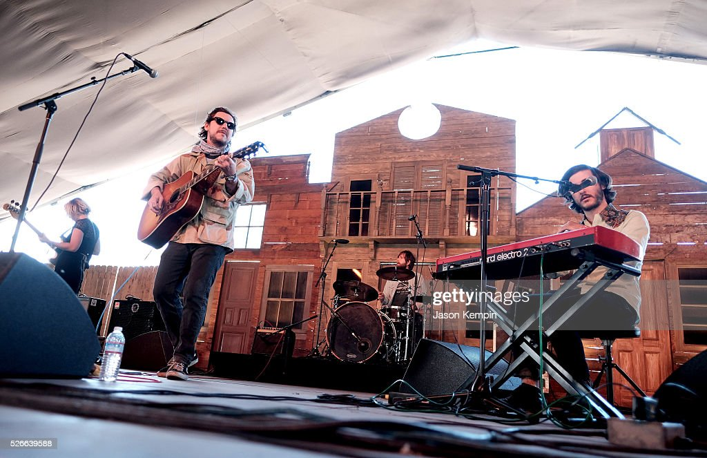 Musician Justin Osborne of (C) Susto performs onstage during 2016 Stagecoach California's Country Music Festival at Empire Polo Club on April 30, 2016 in Indio, California.