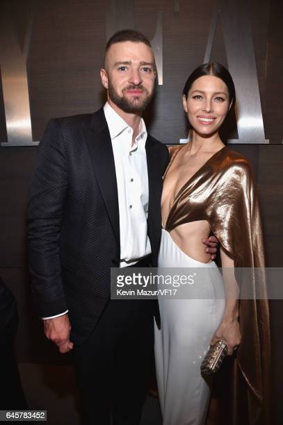 Musician Justin Timberlake and actor Jessica Biel attend the 2017 Vanity Fair Oscar Party hosted by Graydon Carter at Wallis Annenberg Center for the...