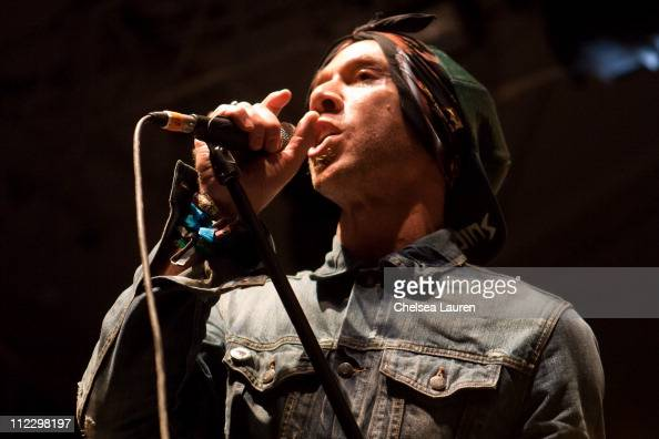 Musician Justin Warfield of She Wants Revenge performs at day 3 of the 2011 Coachella Valley Music Arts Festival at The Empire Polo Club on April 17...
