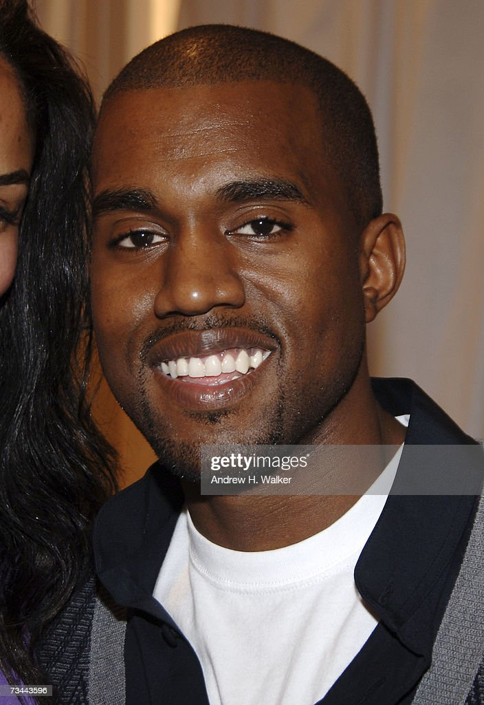 Musician <a gi-track='captionPersonalityLinkClicked' href=/galleries/search?phrase=Kanye+West+-+Musician&family=editorial&specificpeople=201803 ng-click='$event.stopPropagation()'>Kanye West</a> attends the Henri Bendel presentation of 'The Little Bendel Dress' on February 27, 2007 in New York City.