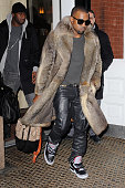 Musician Kanye West leaves the Mercer Hotel on January 3 2011 in New York City