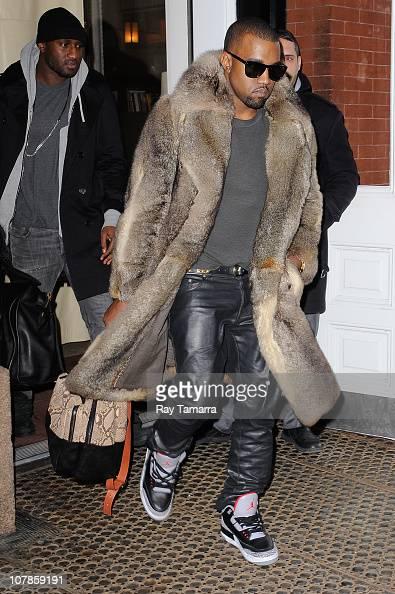 Musician Kanye West leaves the Mercer Hotel on January 3 2011 in New York City