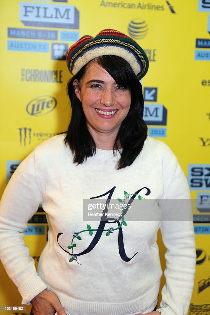 Musician <a gi-track='captionPersonalityLinkClicked' href=/galleries/search?phrase=Kathleen+Hanna&family=editorial&specificpeople=591982 ng-click='$event.stopPropagation()'>Kathleen Hanna</a> poses in the greenroom at the screening of 'The Punk Singer' during the 2013 SXSW Music, Film + Interactive Festival at Austin Convention Center on March 10, 2013 in Austin, Texas.