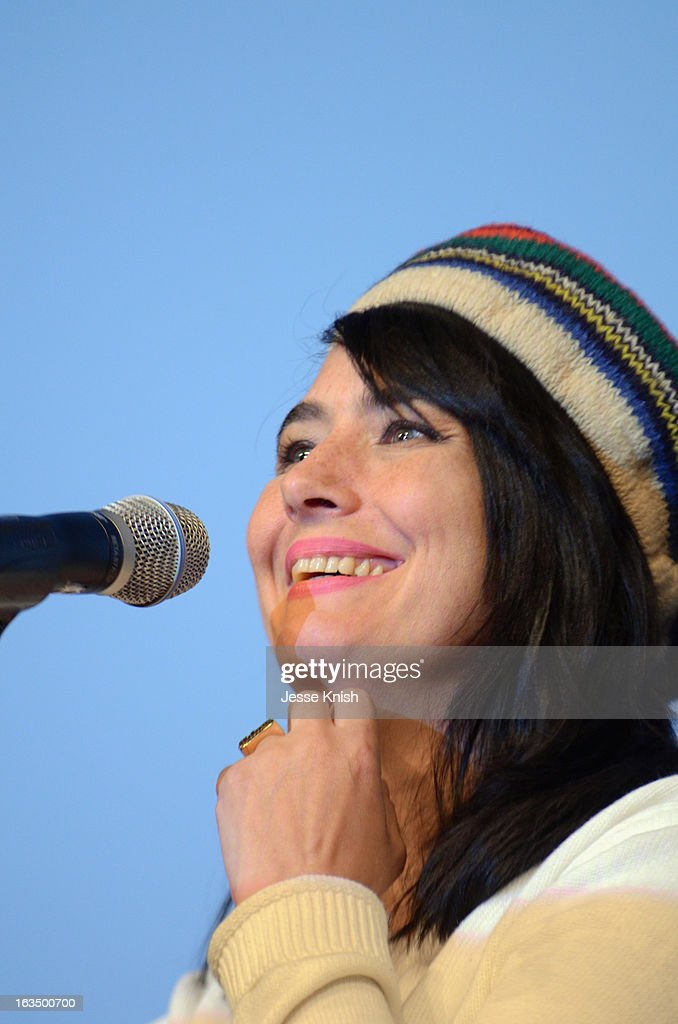 Musician <a gi-track='captionPersonalityLinkClicked' href=/galleries/search?phrase=Kathleen+Hanna&family=editorial&specificpeople=591982 ng-click='$event.stopPropagation()'>Kathleen Hanna</a> speaks onstage at 'The Punk Singer' Q&A during the 2013 SXSW Music, Film + Interactive Festival at Austin Convention Center on March 10, 2013 in Austin, Texas.
