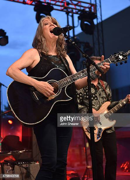 Musician Kathy Mattea performs during the 'Dylan Cash And The Nashville Cats A New Music City' album release concert at Country Music Hall of Fame...