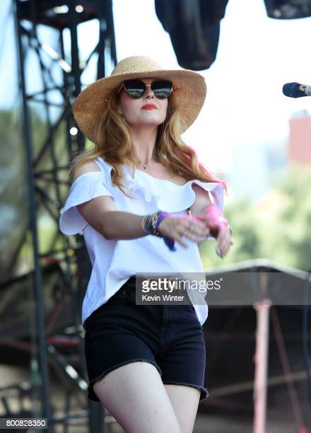 Musician Katie Jayne Earl of musical group The Mowgli's performs on The Oak stage during Arroyo Seco Weekend at the Brookside Golf Course at on June...