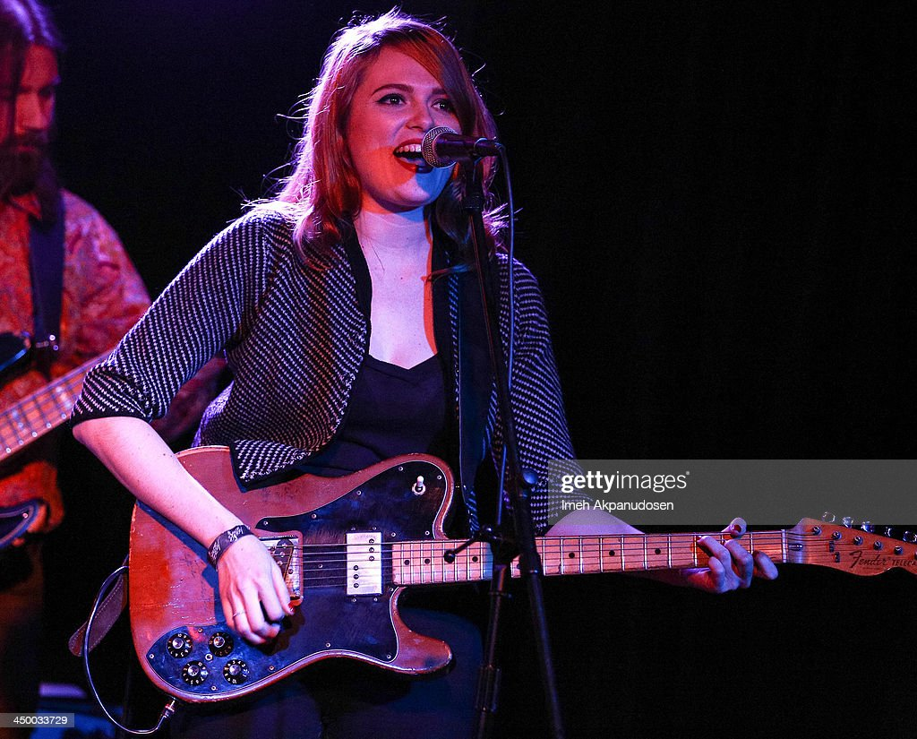 Musician Katie Stratton of Beeswax performs onstage at El Cid on November 15, 2013 in Los Angeles, California.