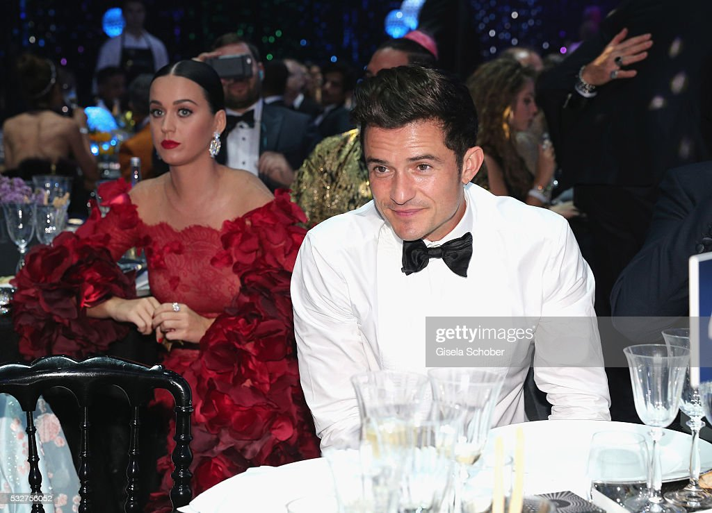 Musician Katy Perry and Actor Orlando Bloom attend the amfAR's 23rd Cinema Against AIDS Gala at Hotel du CapEdenRoc on May 19 2016 in Cap d'Antibes...