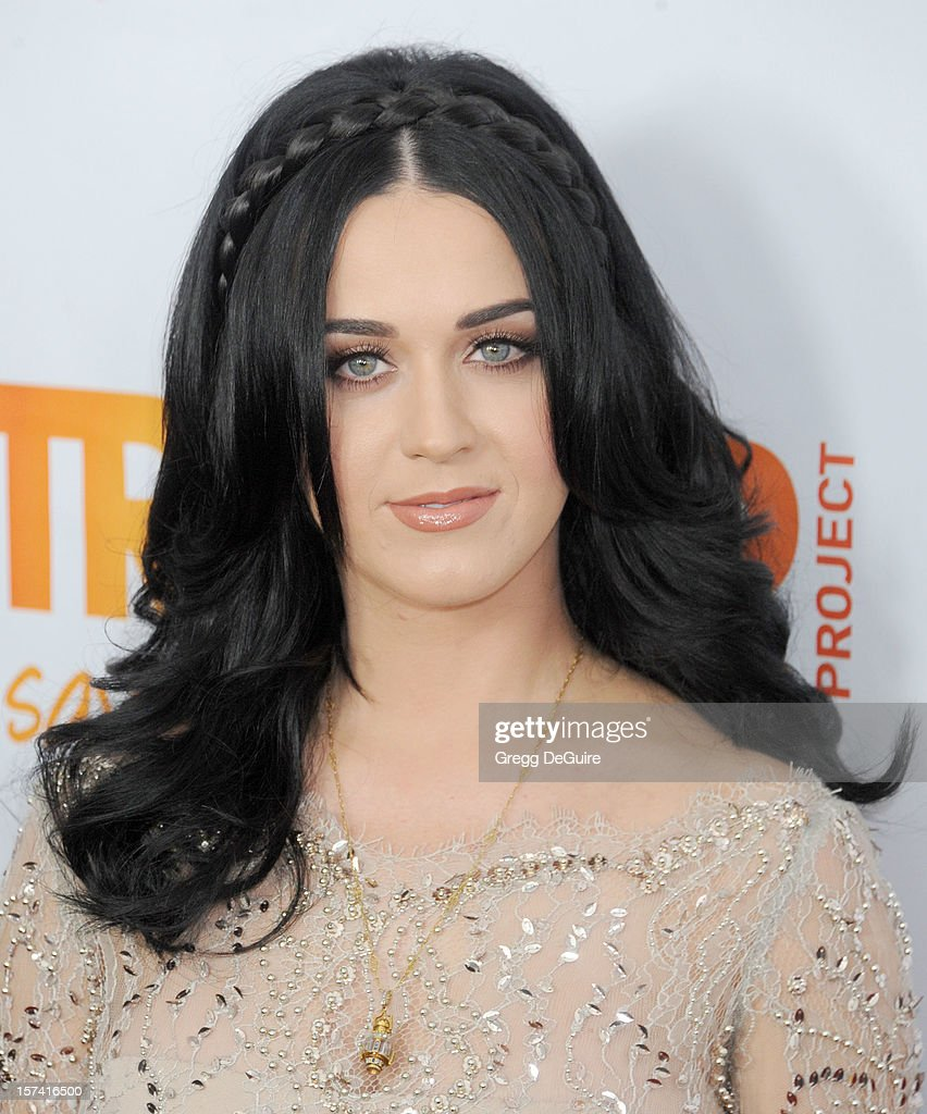 Musician <a gi-track='captionPersonalityLinkClicked' href=/galleries/search?phrase=Katy+Perry&family=editorial&specificpeople=599558 ng-click='$event.stopPropagation()'>Katy Perry</a> arrives at The Trevor Project's 2012 'Trevor Live' event honoring <a gi-track='captionPersonalityLinkClicked' href=/galleries/search?phrase=Katy+Perry&family=editorial&specificpeople=599558 ng-click='$event.stopPropagation()'>Katy Perry</a> at the Hollywood Palladium on December 2, 2012 in Hollywood, California.
