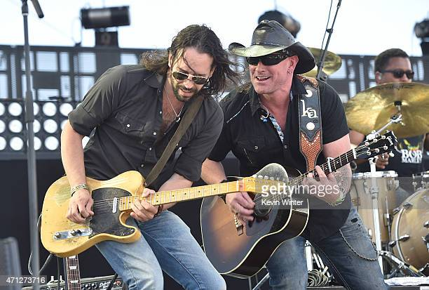 Musician Keith Anderson performs onstage during day three of 2015 Stagecoach California's Country Music Festival at The Empire Polo Club on April 26...