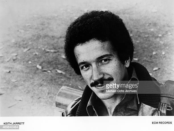 Musician Keith Jarrett poses for a portrait session in 1974 in Los Angeles California