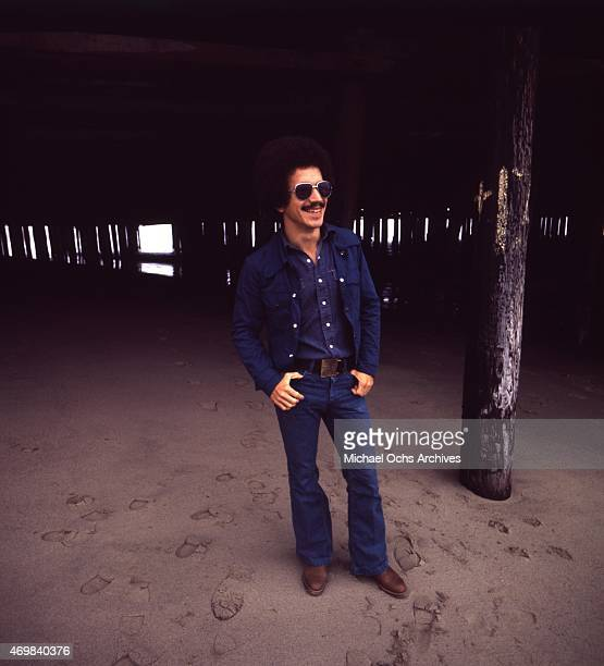 Musician Keith Jarrett poses for a portrait session in 1975 in Los Angeles California